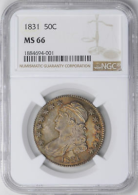 1831 Capped Bust 50C Ngc Ms 66