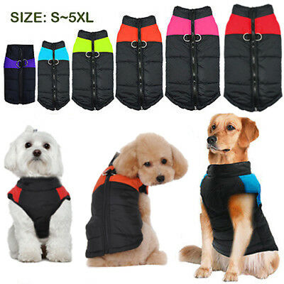 Various Waterproof Dog Clothes Autumn Winter Warm Padded Pet Coat Vest Jacket ·