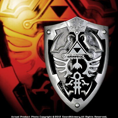 New Design Black Dark Knight Link's Hylian Shield w/ Grip Handle Legend of Zelda