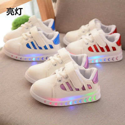Hot Toddler Baby Lights Shoes Fashion Kids Boy Girls Sports Shoes Casual Size