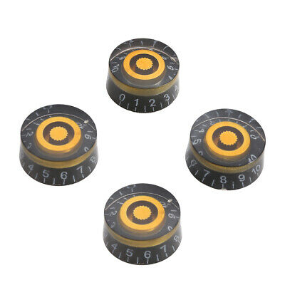 4Pcs Acrylic Speed Knobs Volume Tone Control  For Gibson Les Paul Guitar