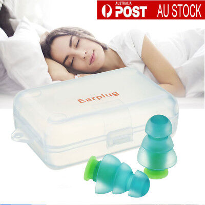 Noise Cancelling Reduction Ear Plugs Concert Sleeping Hearing Protection Earplug
