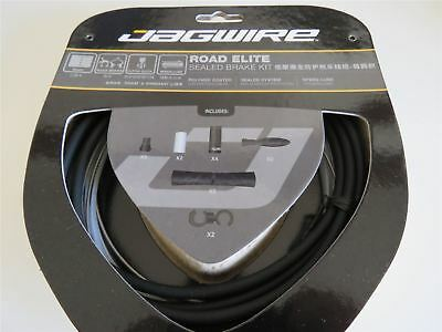Jagwire Road Elite Sealed Brake Bicycle Cycling Inner Outer Gear Cable Kit Black