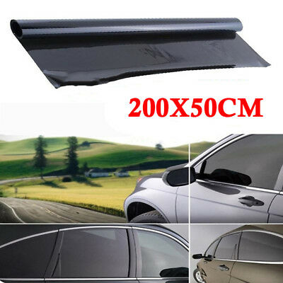 Professional Dark Smoke Black Car Window TINT 5% VLT Film 300x50cm Uncut