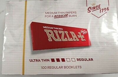 Full Box of 100 Booklets of Rizla Red Rolling Smoking Cigarette Papers  £14.99