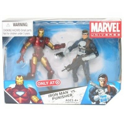 Marvel Universe 3 3/4 Inch Exclusive Action Figure 2Pack Iron Man Vs. Punisher