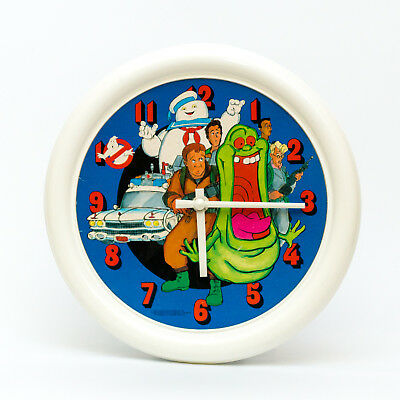 RARE Vintage 1980s The Real Ghostbusters Plastic Wall Clock by Concept Clocks