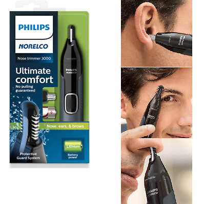 PHILIPS Mens Electric Nose Ear Eyebrow Hair Trimmer Shaver Clippers Grooming Kit