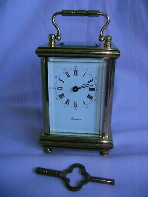 L'epee Timepiece Carriage Clock In Good Working Order + Key Serviced June 2018