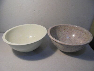 Pair Of Pre-Owned Texas Ware #118 Splatter Mixing Bowls
