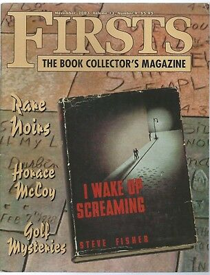 Firsts Magazine Collecting Modern First Editions 9/2003 Rare Noir Golf Mysteries