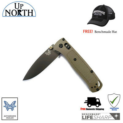 Benchmade 535GRY-1 Bugout Backpacking EDC Knife Green Handle Gray S30V Blade