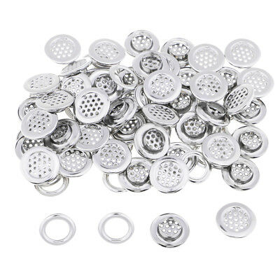 50 Pairs Metal Grommets Eyelet with Washers Silver/Black 19mm for Hand Press