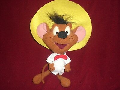 """1994 Looney Tunes SPEEDY GONZALES Felt Character Plush Toy Doll by TYCO 9.5"""""""