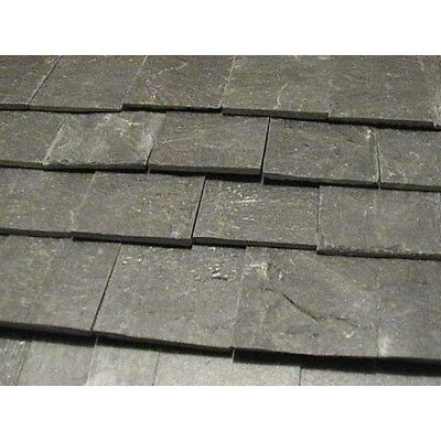 100 Real Roof Slates, Dolls House Miniature, DIY Fixtures Fittings Roofing Slate
