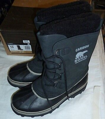Sorel Men's NM 1000-014 Waterproof Caribou Boots - Black Tusk New!