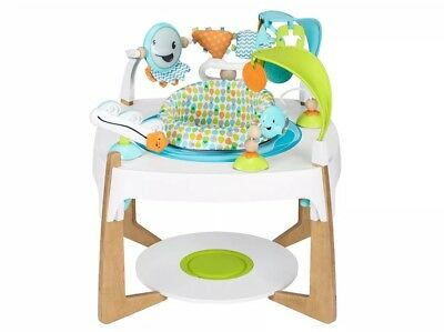 NEW Evenflo ExerSaucer 2-in-1 Activity Center + Art Table, Gleeful Sea F/S