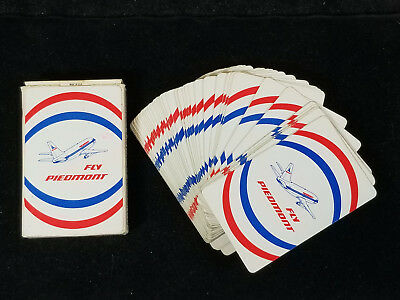 Vintage PIEDMONT AIRLINES Playing Cards Deck Aviation