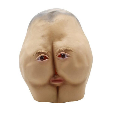 latex Butt Head mask Adult Ass Halloween party Costume Accessory prop cosplay N