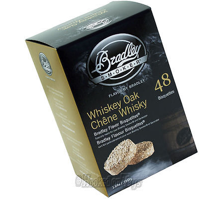 Bradley Whiskey Oak Flavor Bisquettes Special Edition Smoker Chips 48 pcs.
