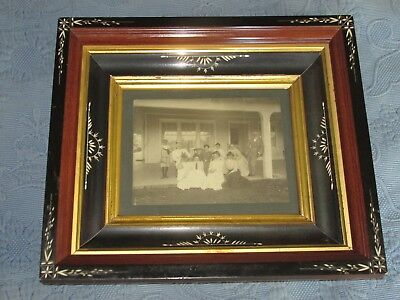 Ornate Antique Eastlake Victorian Deep Well Picture Frame,Family Photo