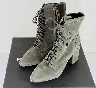 a2595e7ec5f Women's Ankle Boots Lace Up Booties Chunky Stacked High Heel Rugged Padded  Shoes.