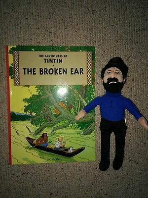 Tintin The Broken Ear by Herge (Paperback, 2002) & TY Captain Haddock