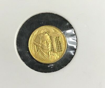 "Signers/Declaration of Independence""John Hancock"" 1/20 Oz Gold .999 Round C-1475"