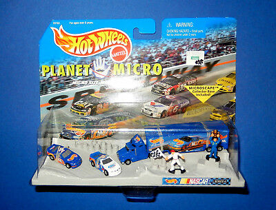 HOT WHEELS MICRO WORLD - NASCAR Racing Collection Series 4 - NEW OVP