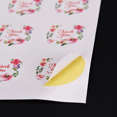 Glassine 3.5cm Beautiful Small Thank You Seals Labels Floral Stickers Design
