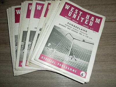 West Ham United Home Programmes 1965 -7 Choose From List