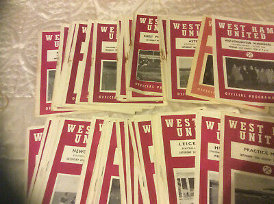 West Ham United Home Programmes From 1958 -60 - Select From List Inc Cups