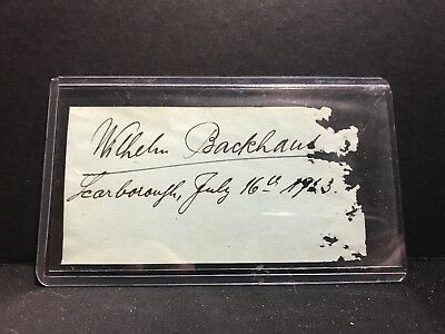 Willhelm Backhaus Signed Autograph