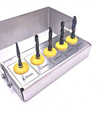Dental Implant Drill Kit Titanium Coated Grafting Tissue 5 PCS New