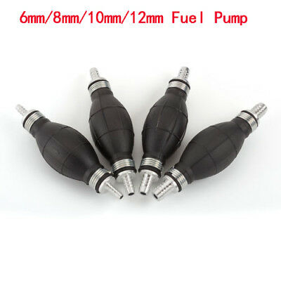 Black Fuel Pump Line Hand Primer Bulb All Fuels For Car Boat Marine Outboard UI
