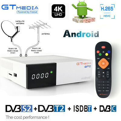 4k Receptor Android Tv Box Cable DVB-S2 ISDB-T DVB-T2 Youtube Satellite Receiver