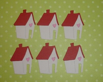 6 Little House Embellishments Die Cuts  Scrapbooking New Home Houses Mortgage