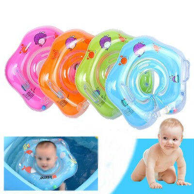 Baby Swim Ring Inflatable Toddler Neck Float Swimming Ring Pool Infant Kid Safe