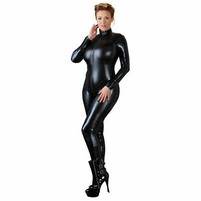 Cottelli Collection Plus Langarm Overall schwarz 3XL Body Catsuit Bekleidung