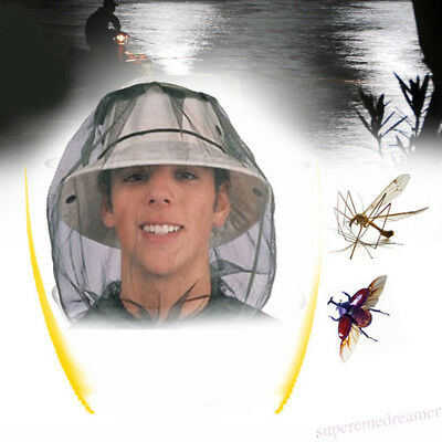 Anti-bite Veil Cap Fly Insect Bee Mask Face Protect Hat Net Smock Camouflage New