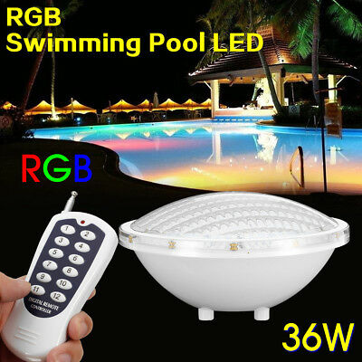 LED Swimming pool lighting Spa Lights Bulb 36W 12V AC/DC RGB Colors Changing