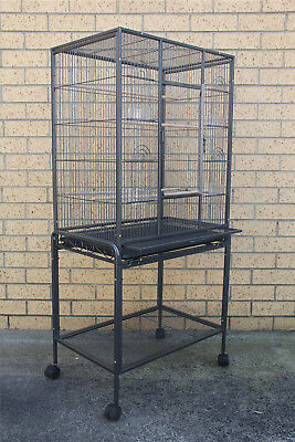135cm Bird Cage Parrot Aviary Pet Stand-alone Budgie Perch Castor Wheels