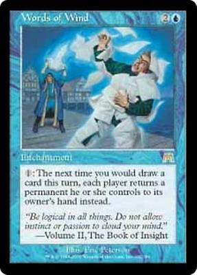 WORDS OF WIND Onslaught MTG Blue Enchantment RARE