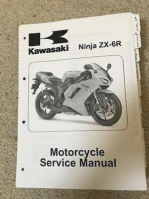 kawasaki ninja zx 6r 2007 2008 workshop service manual