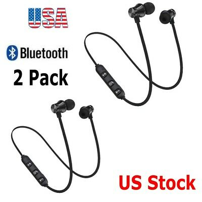 Magnetic Wireless Bluetooth 4.2 Sports Earphone Headphones For iPhone Samsung US