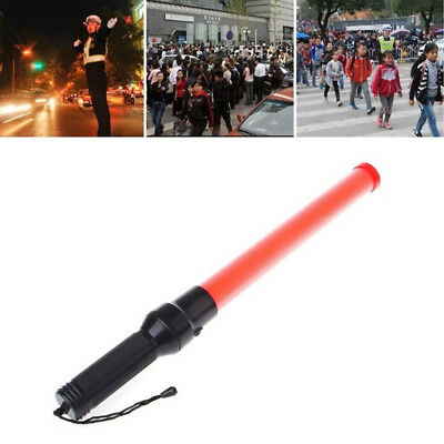 Red Traffic Control Road Safety Signs LED Light Wand Warning Flashing Baton New