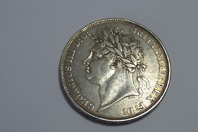 1821 George IV Silver Crown coin good grade.