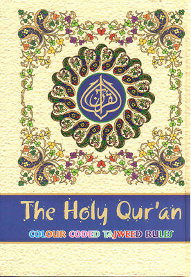 The Holy Quran: Colour Coded Tajweed Rules & Manzils Small A5 Size