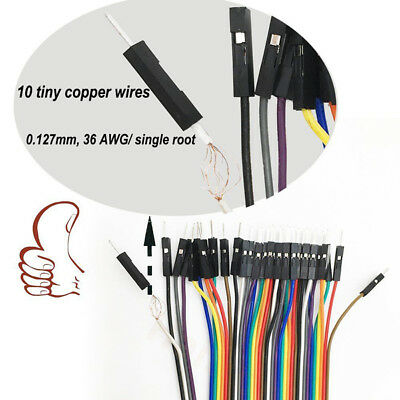 40 Pin Spacing Headers 20cm Dupont MM/MF/FF Wire Cable 2.54mm Jumper PVC