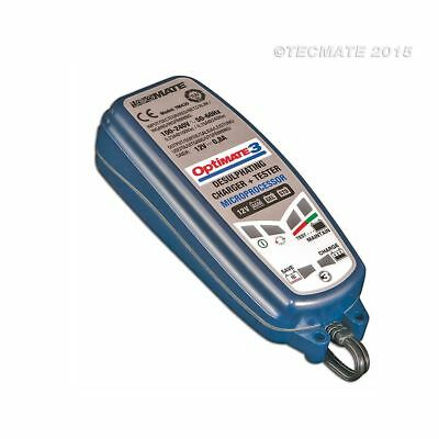 Tecmate Optimate 3 Motorcycle 12V Battery Optimiser Charger Maintainer
